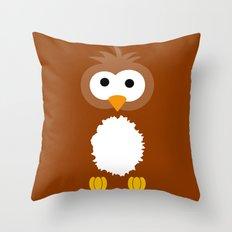 Minimal Owl Throw Pillow