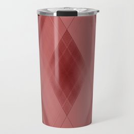 Wicker triangular strokes of intersecting sharp lines with purple triangles and stripes Travel Mug