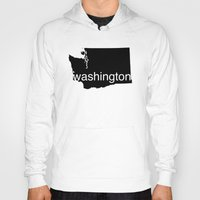 washington Hoodies featuring Washington by Isabel Moreno-Garcia
