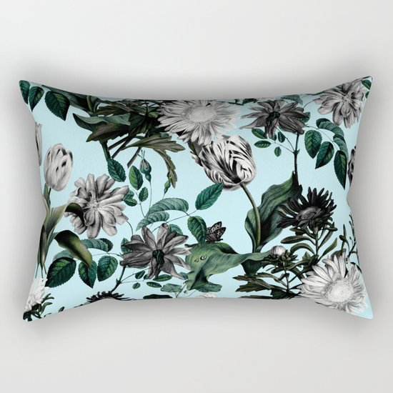 Summer Botanical Garden Rectangular Pillow