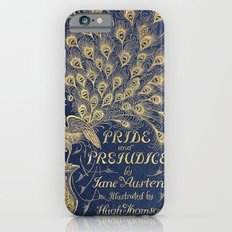 Pride and Prejudice by Jane Austen Vintage Peacock Book Cover Slim Case iPhone 6