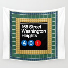 subway washington heights sign Wall Tapestry