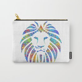 Colorful Watercolor Lion Carry-All Pouch