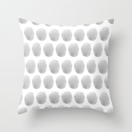 Watercolour polkadot grey Throw Pillow