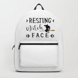 Resting Witch Face Backpack