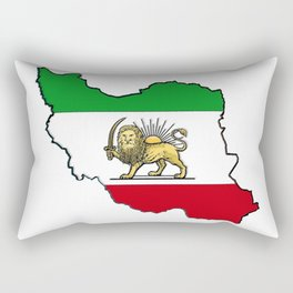 Iran Map with Iranian Flag Rectangular Pillow