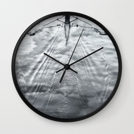 Rowing on a River of Clouds Wall Clock