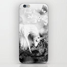 Einhorn - schwarz-weiß iPhone Skin