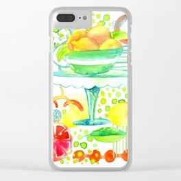 Summer Citrus Extravaganza Clear iPhone Case