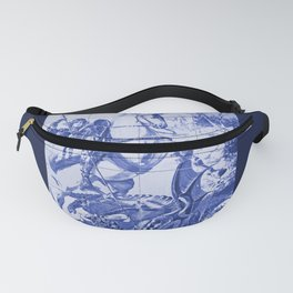 Saint George and the Dragon Portuguese Tile Panel Fanny Pack