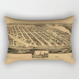 Map Of Asbury Park 1881 Rectangular Pillow