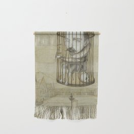 Michel Du Montaigne (1533 - 1592) An Inspirational Philosopher; Prison in the Sky Wall Hanging