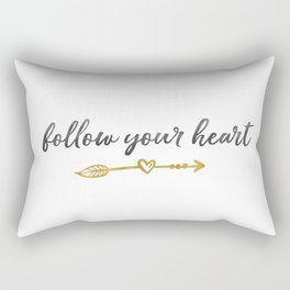 Follow Your Heart Arrow with Heart Rectangular Pillow