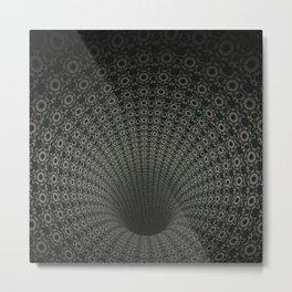 Dark Abyss Tubular Mandalas 2 Metal Print