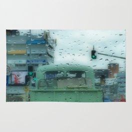 Rainy Days and Vintage Vehicles Rug