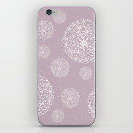 Snowflakes Pink #society6 #buyart iPhone Skin