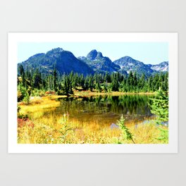 Mount Herman with Picture Lake Art Print