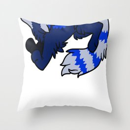 Blue Panda  Throw Pillow