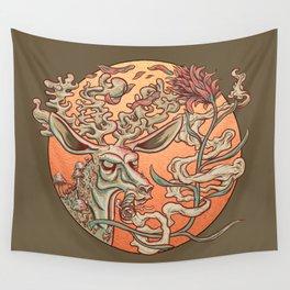 Deer Smoke & Indian Paintbrush Wall Tapestry