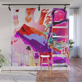Abstract Violet Wall Mural