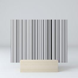 Old Skool Stripes - 50 Shades of Gray Mini Art Print