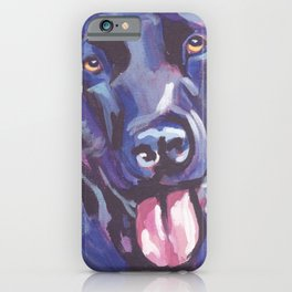 The happy Black Lab Love of My Life -your Labrador dog keeps you smiling! iPhone Case