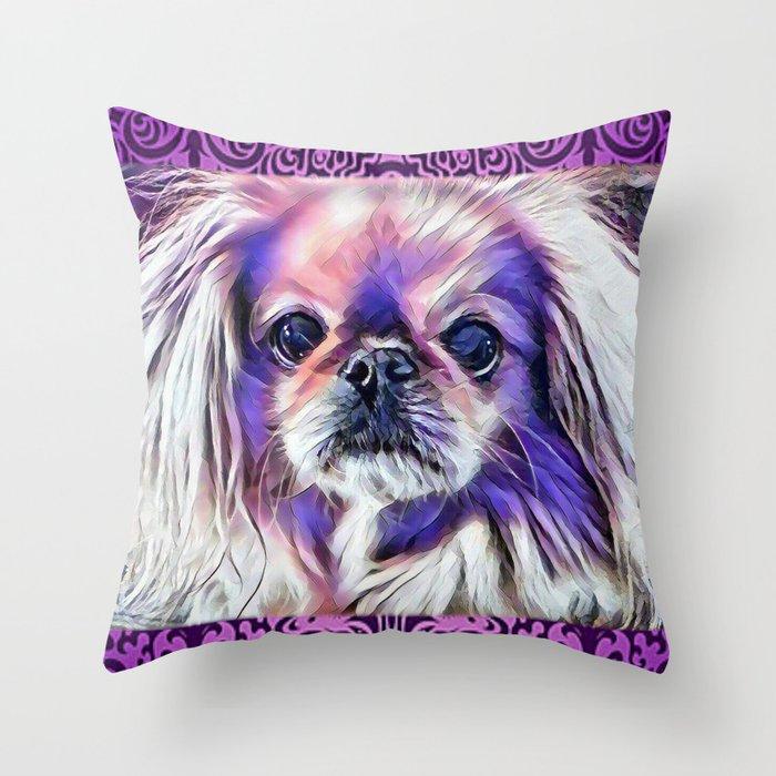 Peak in purple Throw Pillow