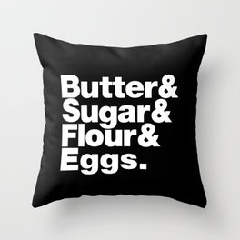 The Fab 4 - Baking Throw Pillow