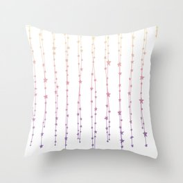 Pastel Ombre Magical Wish Collection Throw Pillow