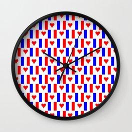 Flag of France 16- France, Français,française, French,romantic,love,gastronomy Wall Clock