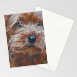 Norfolk Terrier Dog Portrait Art from an original painting by L.A.Shepard Stationery Cards