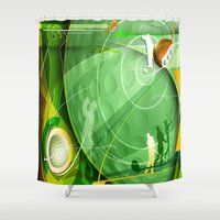 golf Shower Curtains featuring Golf Anyone? by Robin Curtiss
