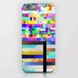 Texture glitched out iPhone Case