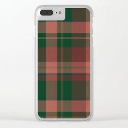 Wool-like plaid Clear iPhone Case
