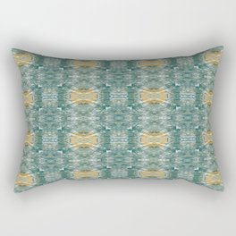 Copper Turquoise Southwestern Kaleidoscope Pattern Rectangular Pillow