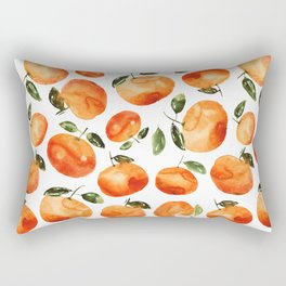 Watercolor tangerines Rectangular Pillow