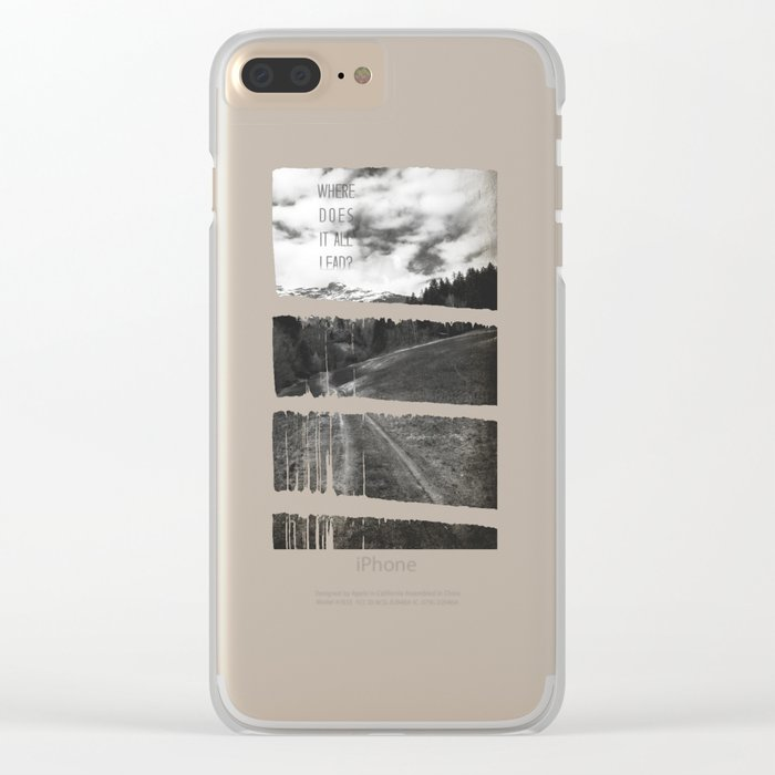 Where does it all lead? Clear iPhone Case