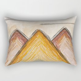 Mountains in Gold Rectangular Pillow