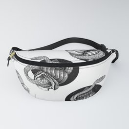Snake and shell pattern Fanny Pack