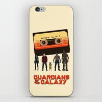guardians of the galaxy iPhone & iPod Skins featuring GUARDIANS OF THE GALAXY by Kaitlin Smith