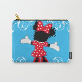 Minnie Mouse Paint Splat Magic Blue Background Carry-All Pouch