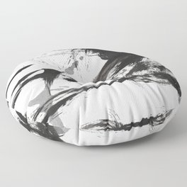 Black and white Abstract Floor Pillow
