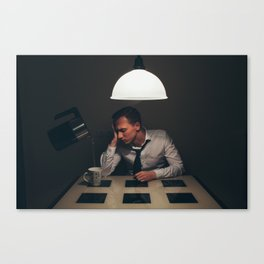 Exhausted tea Canvas Print