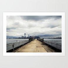 View from Liberty Island Pier Art Print