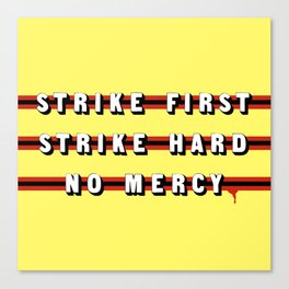 Cobra Kai (Rule of Threes) Canvas Print
