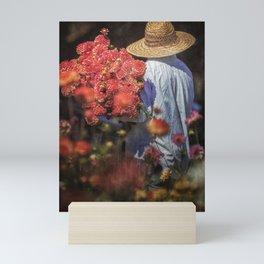 Picking the Flowers Mini Art Print