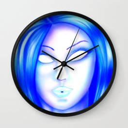 Lady white eies Wall Clock