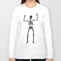 skeleton Long Sleeve T-shirts featuring Skeleton  by YUNG-GOD
