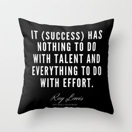 8 | Ray Lewis Quotes 190511 Throw Pillow