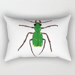 Green tiger beetle Rectangular Pillow